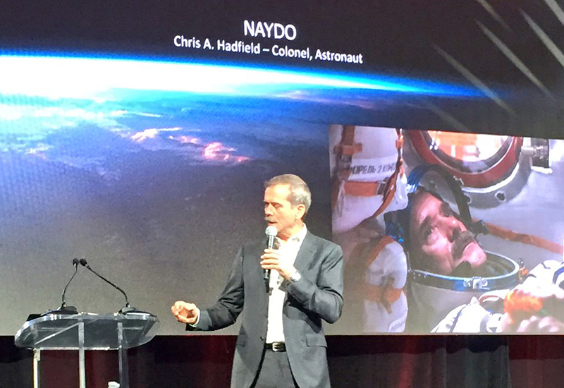 Colonel Hadfield speaking at NAYDO 2016