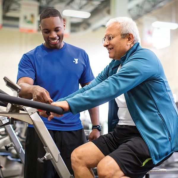 adults enjoying YMCA wellness activities